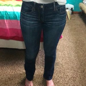 Dark Wash American Eagle Boot Cut Jeans